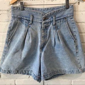 Vintage Steel High Waisted Acid Wash Jean Shorts